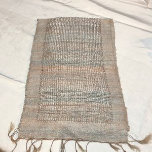 Accessories - HAND WOVEN OBLONG RAW SILK SCARF